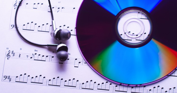 Sheet of music and CD.