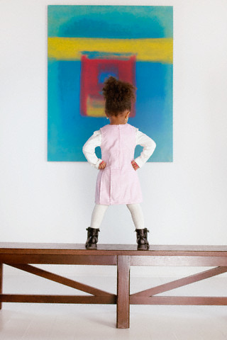 Little Girl Looking at Art